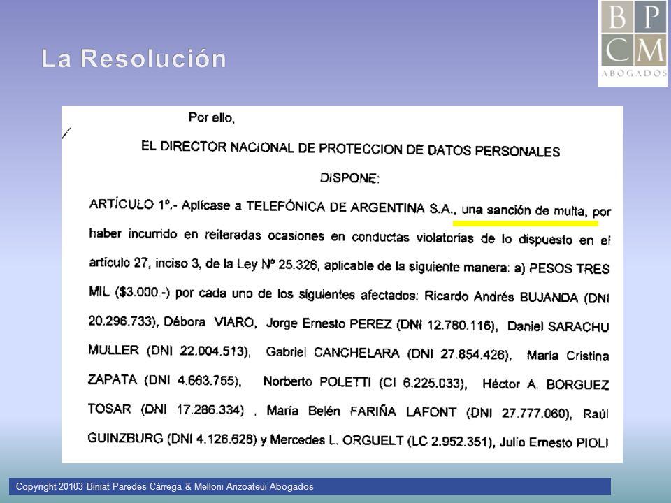Copyright 20103 Biniat Paredes Cárrega & Melloni Anzoateui Abogados