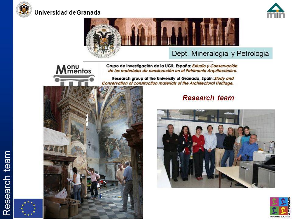 Universidad de Granada Research team Dept. Mineralogia y Petrologia Research team