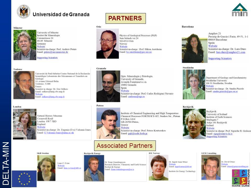 Universidad de Granada DELTA-MIN PARTNERS Associated Partners