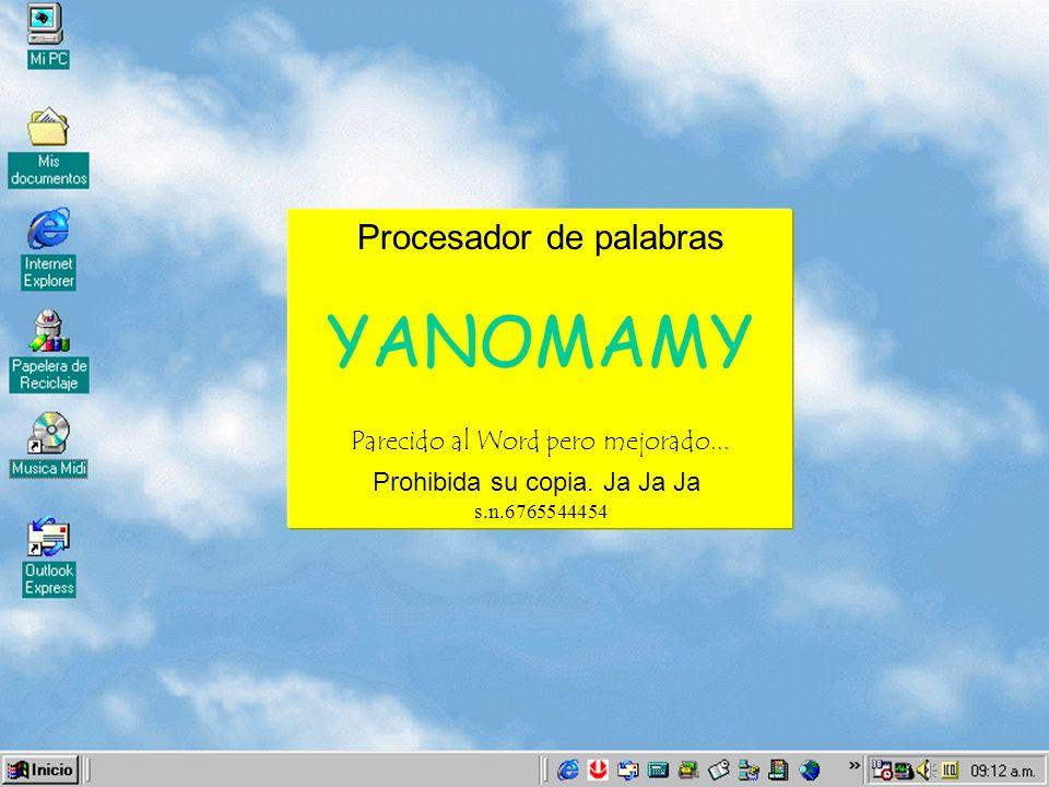 Procesador de palabras YANOMAMY Parecido al Word pero mejorado...