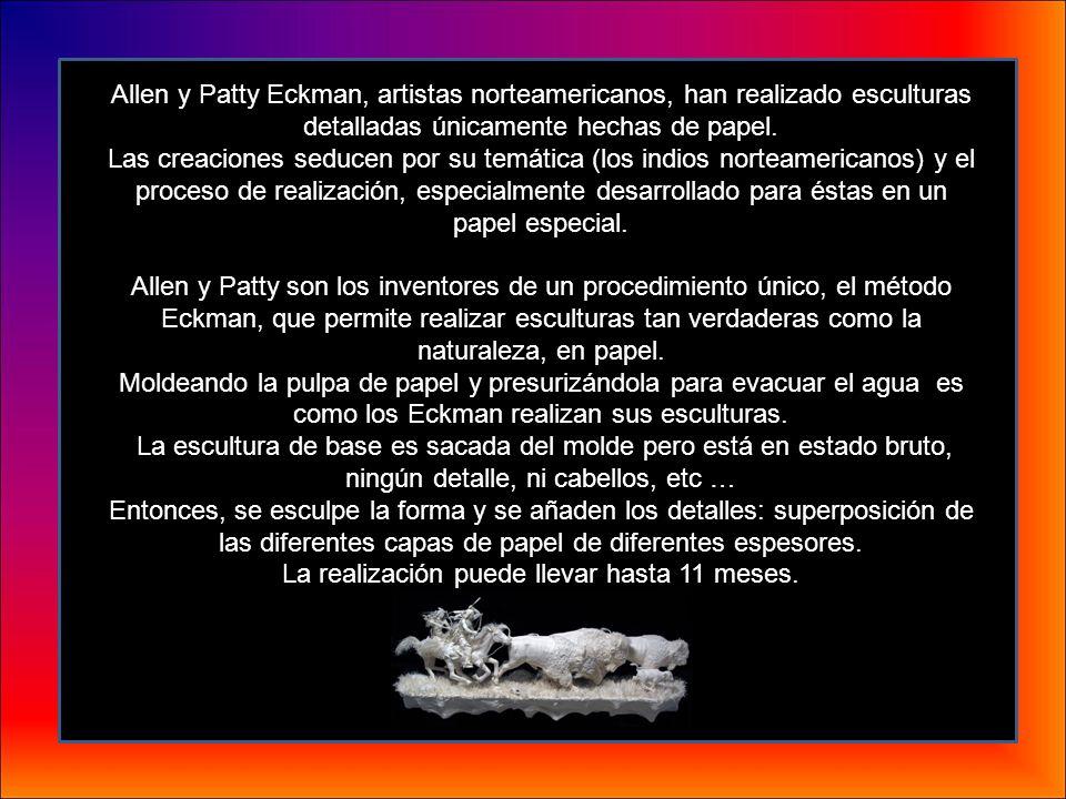 Allen y Patty Eckman, artistas norteamericanos, han realizado esculturas detalladas únicamente hechas de papel.