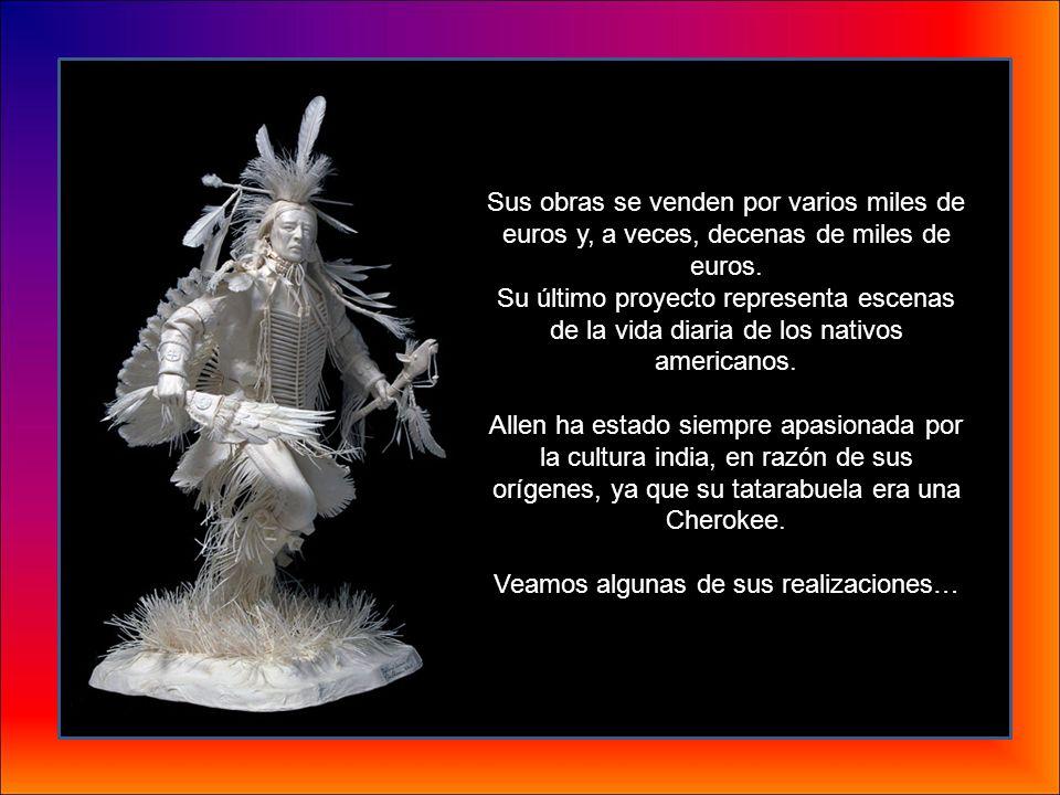 Allen y Patty Eckman, artistas norteamericanos, han realizado esculturas detalladas únicamente hechas de papel. Las creaciones seducen por su temática