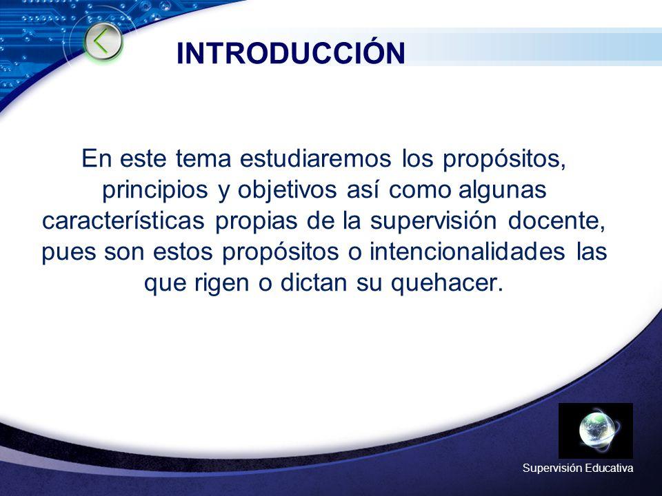 LOGO Supervisión Educativa Supervisión Educativa y Acompañamiento Docente