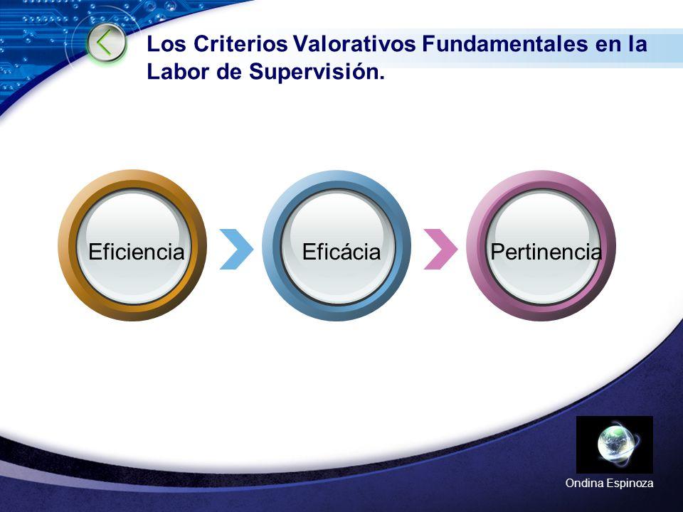LOGO Ondina Espinoza Los Criterios Valorativos Fundamentales en la Labor de Supervisión.