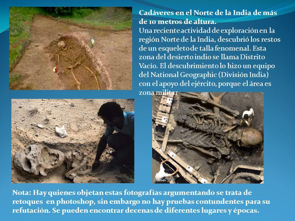 Cadáveres en el Norte de la India de más de 10 metros de altura.