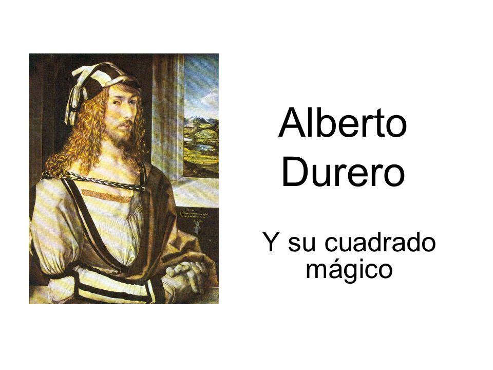 A la derecha en la pared, el cuadrado mágico creado por Durero