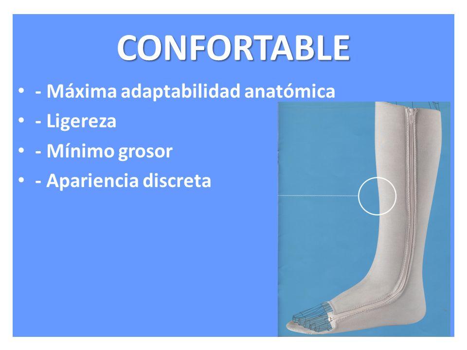 CONFORTABLE - Máxima adaptabilidad anatómica - Ligereza - Mínimo grosor - Apariencia discreta