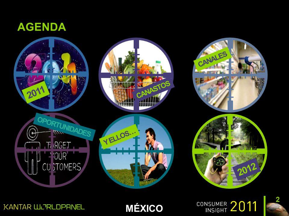 MÉXICO AGENDA 2 CANALES CANASTOS 2011 OPORTUNIDADES 2012 Y ELLOS…