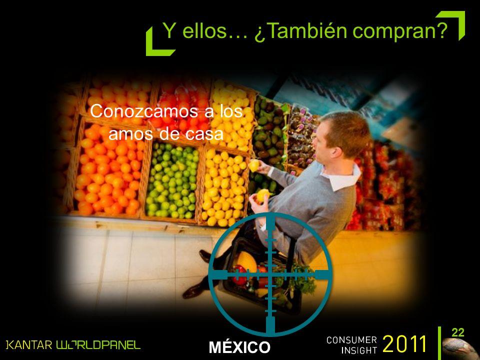 MÉXICO 22 Y ellos… ¿También compran Conozcamos a los amos de casa
