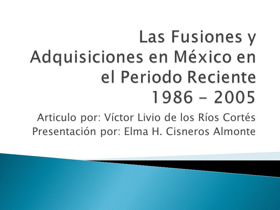 Articulo por: Víctor Livio de los Ríos Cortés Presentación por: Elma H. Cisneros Almonte