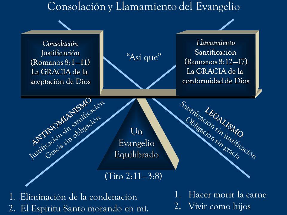 (Tito 2:113:8) ANTINOMIANISMO Justificación sin santificación Gracia sin obligación 1. Eliminación de la condenación 2. El Espíritu Santo morando en m