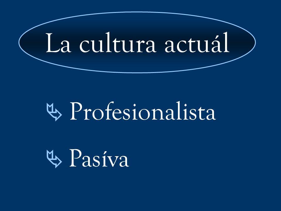 Profesionalista Pasíva La cultura actuál