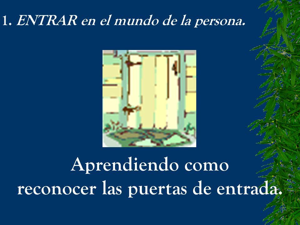 1. ENTRAR en el mundo de la persona. Aprendiendo como reconocer las puertas de entrada.