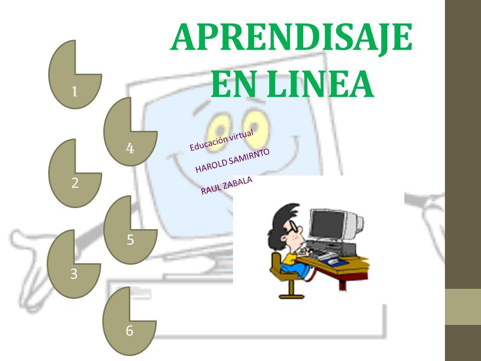 APRENDISAJE EN LINEA 1 2 3 4 5 6 Educación virtual HAROLD SAMIRNTO RAUL ZABALA