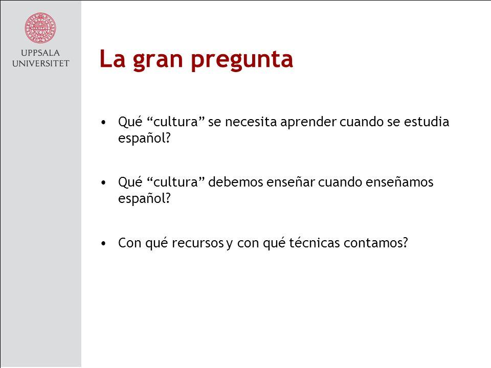 La gran pregunta Qué cultura se necesita aprender cuando se estudia español.
