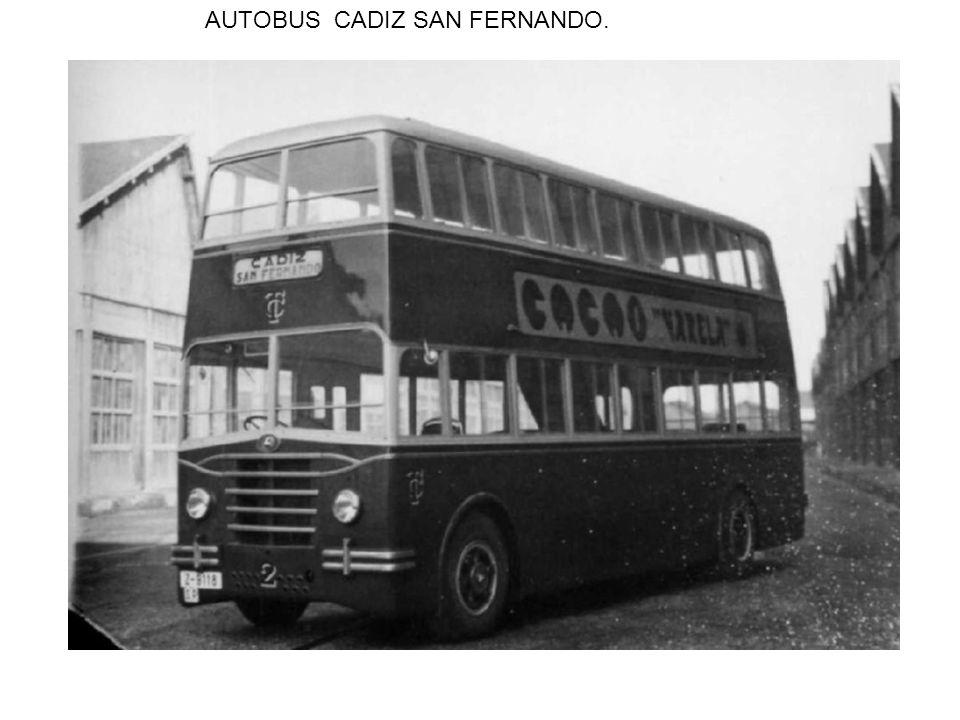 AUTOBUS CADIZ SAN FERNANDO.