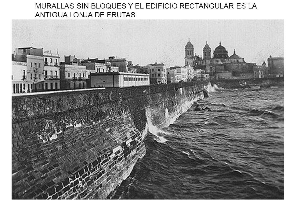 MURALLAS SIN BLOQUES Y EL EDIFICIO RECTANGULAR ES LA ANTIGUA LONJA DE FRUTAS