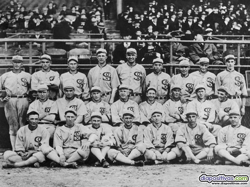 9. EL ESCÁNDALO DEL BÉISBOL 9. EL ESCÁNDALO DEL BÉISBOL Chicago White Sox, 1919 Fue un terremoto en EE.UU., donde el béisbol ya era entonces un autént
