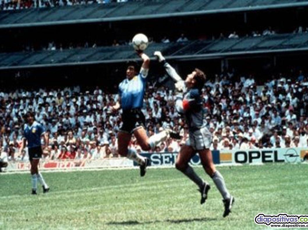 1. LA MANO DE DIOS 1. LA MANO DE DIOS Diego Armando Maradona, 1986 Seguramente la picardía deportiva más famosa de la historia por su protagonista (Ma