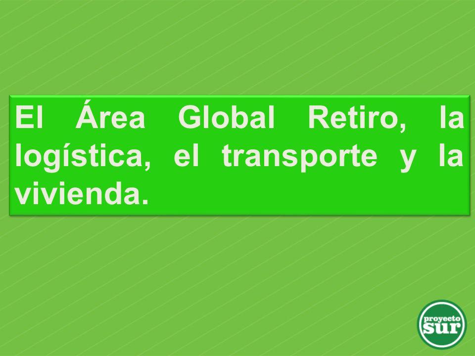 El Área Global Retiro, la logística, el transporte y la vivienda.