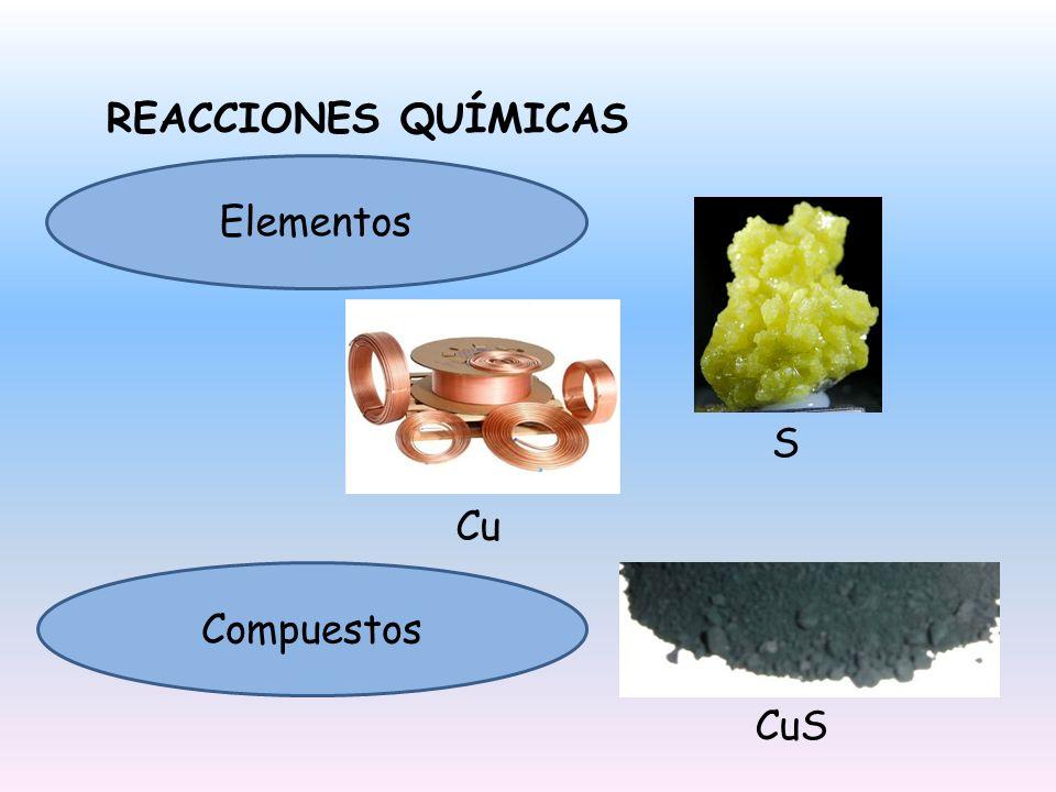 CLASIFICACIÓN DE LAS REACCIONES QUÍMICAS Reacciones de combinación o síntesis A + B AB Reacciones de descomposición AB A + B Reacciones de desplazamiento o sustitución AB + X XB + A Reacciones de doble desplazamiento AB + XY AY + XB