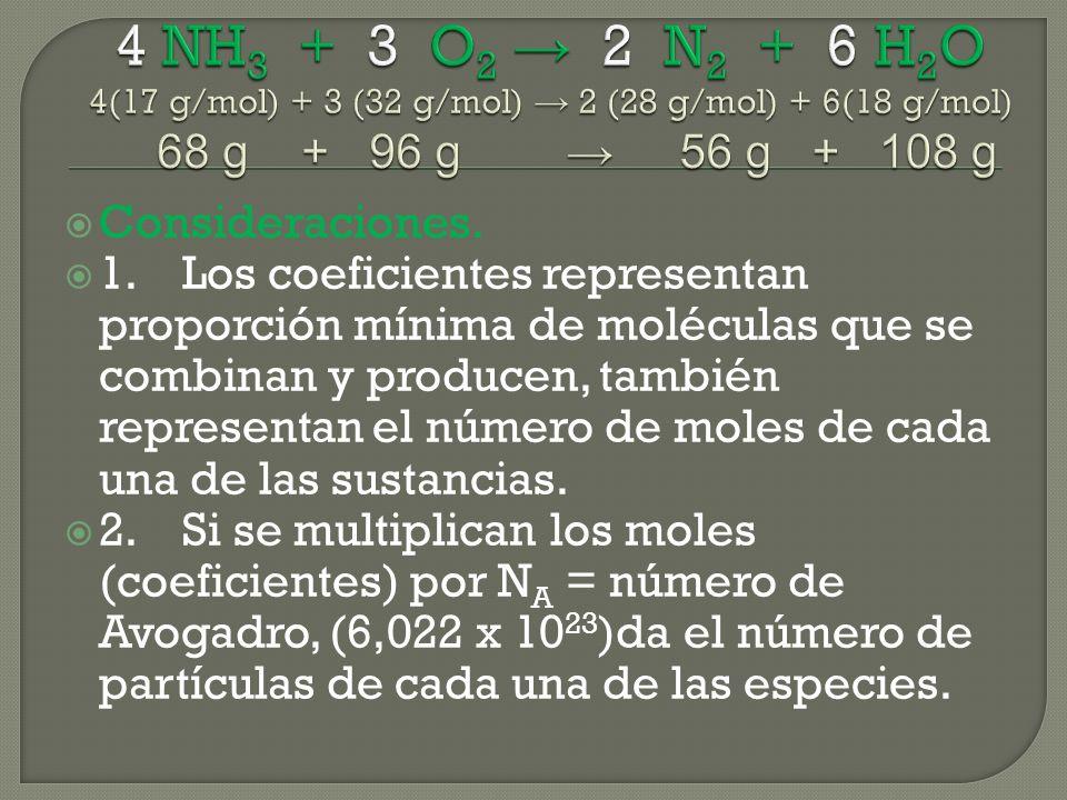 Consideraciones. 1.