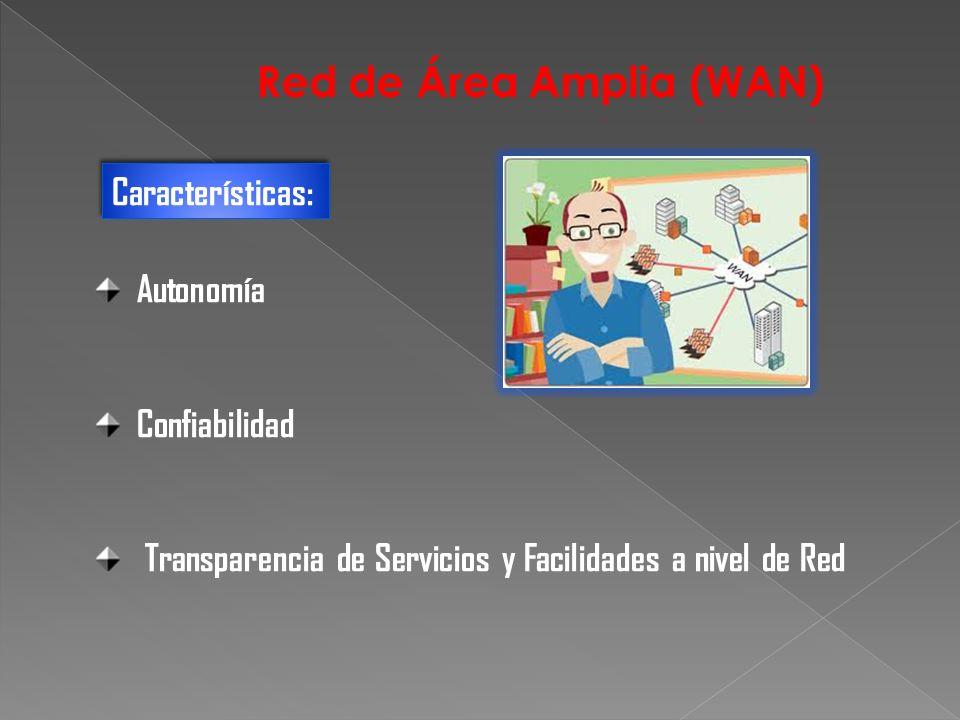 Autonomía Confiabilidad Transparencia de Servicios y Facilidades a nivel de Red Características: