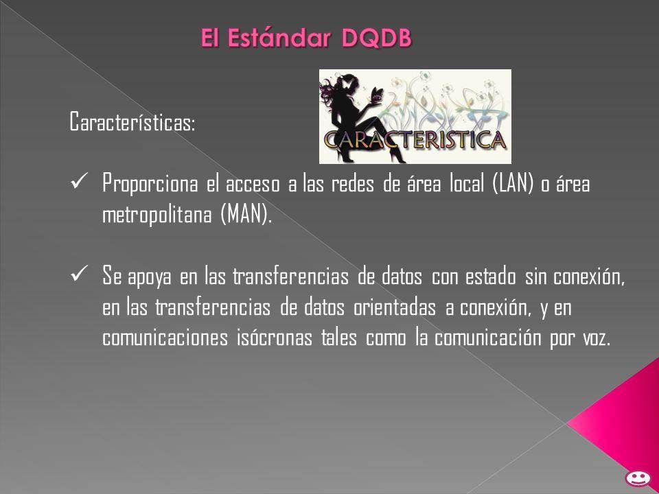 Características: Proporciona el acceso a las redes de área local (LAN) o área metropolitana (MAN). Se apoya en las transferencias de datos con estado