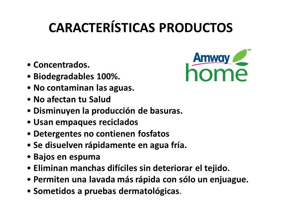 CARACTERÍSTICAS PRODUCTOS Concentrados.Biodegradables 100%.