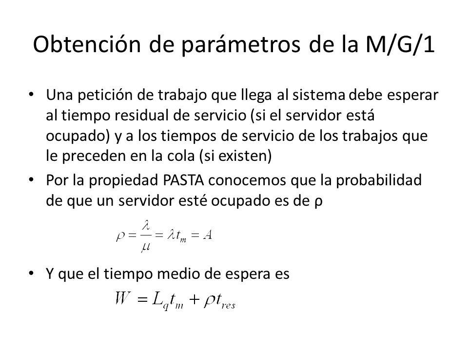 Cálculos Por el teorema de Little Combinando las dos ecuaciones se obtiene la fórmula de Pollacek – Khinchin –