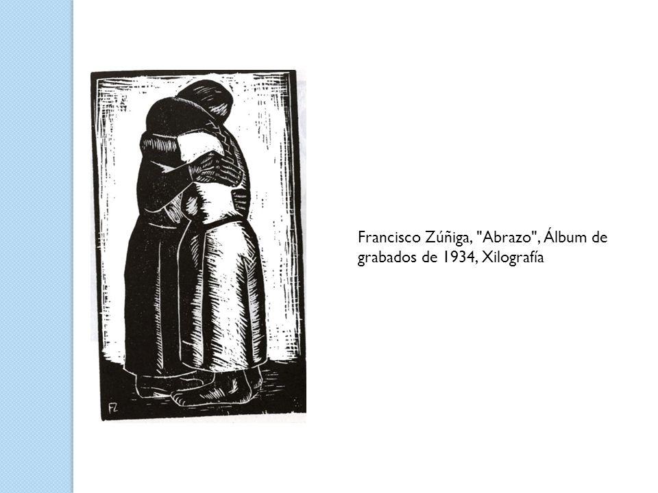 Francisco Zúñiga, Abrazo , Álbum de grabados de 1934, Xilografía