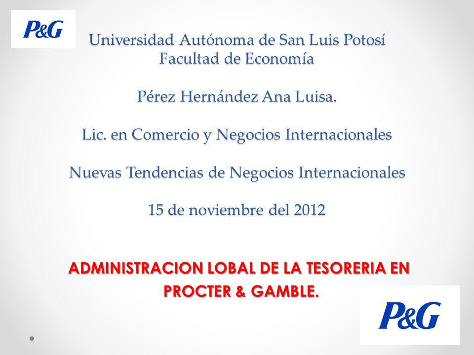 INDICE P&G Propósitos, principios y valores.Análisis FODA.