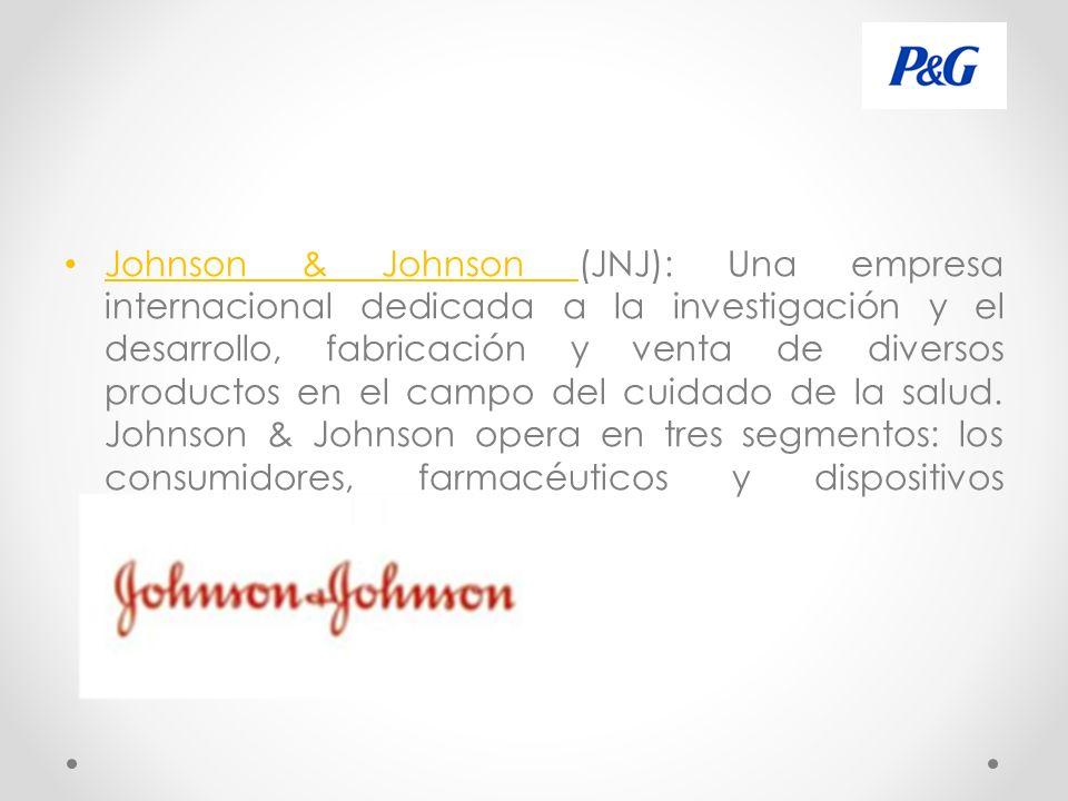 Johnson & Johnson (JNJ): Una empresa internacional dedicada a la investigación y el desarrollo, fabricación y venta de diversos productos en el campo del cuidado de la salud.