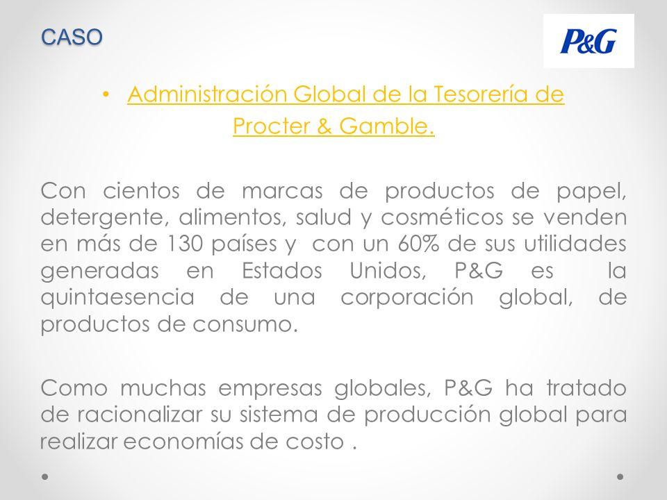 CASO Administración Global de la Tesorería de Procter & Gamble.