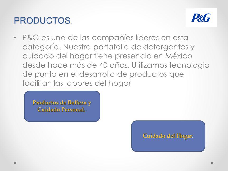 PRODUCTOS.P&G es una de las compañías líderes en esta categoría.