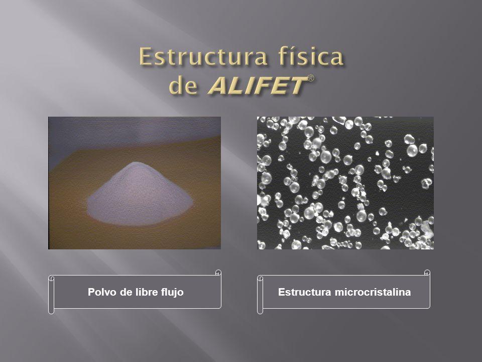 Polvo de libre flujoEstructura microcristalina