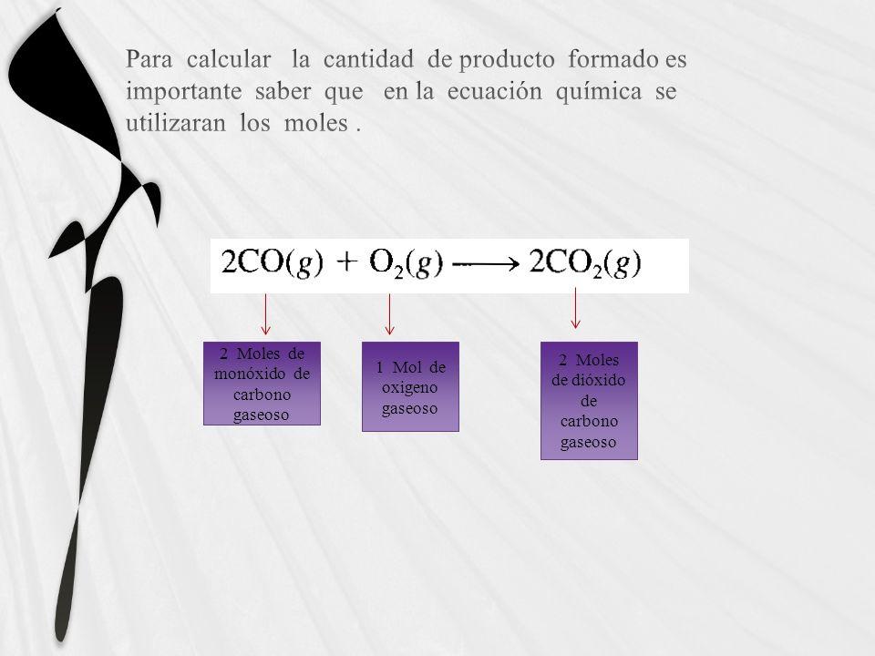 Método general para resolver problemas de estequiometria Escriba la ecuación balanceada de la reacción.