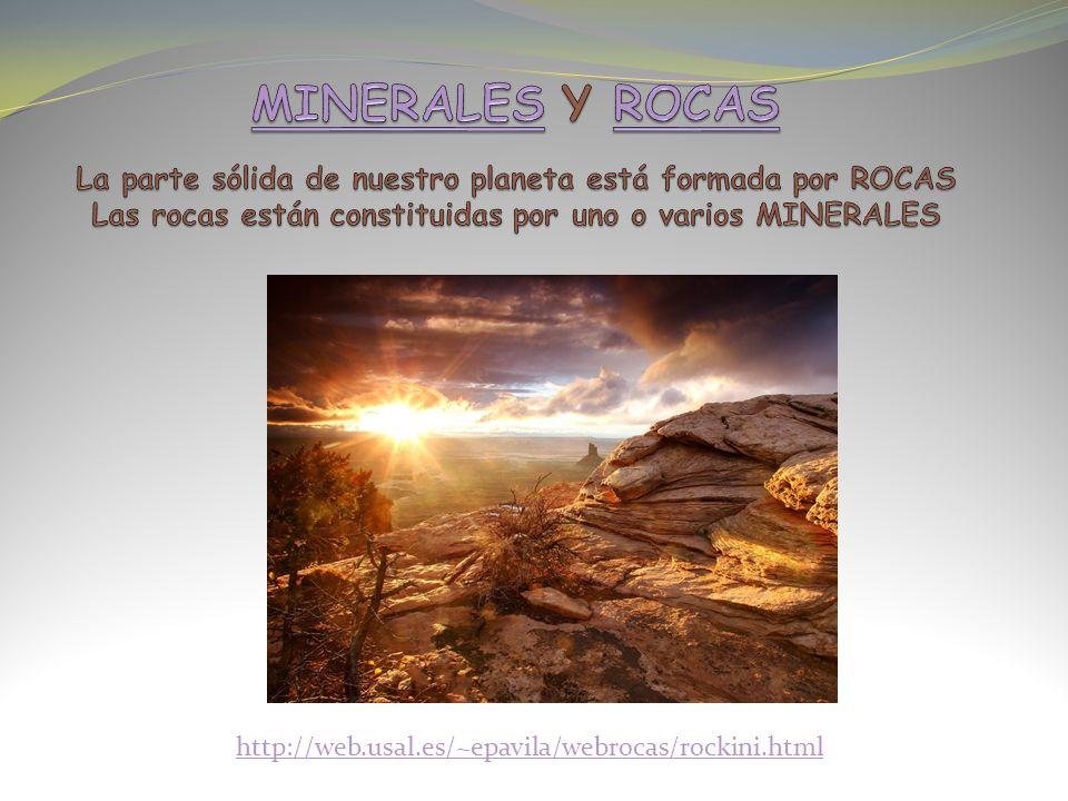 GRANITO: Roca formada por tres minerales: CUARZO, FELDESPATO y MICA MÁRMOL: Roca formada por un mineral: CALCITA