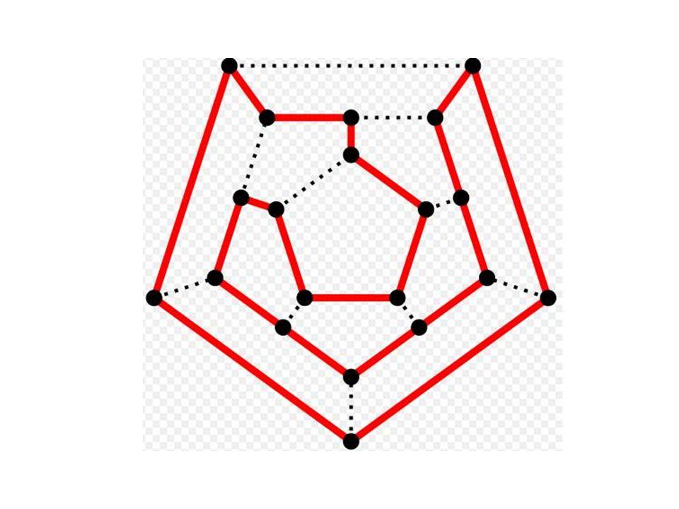 En honor a Hamilton, un ciclo en la gráfica G que contiene cada vértice en G justo una vez, excepto por el vértice inicial y final que aparece dos veces, recibe el nombre de ciclo hamiltoniano.