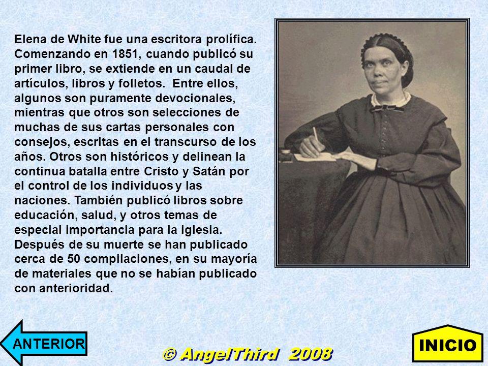 Elena de White fue una escritora prolífica. Comenzando en 1851, cuando publicó su primer libro, se extiende en un caudal de artículos, libros y follet