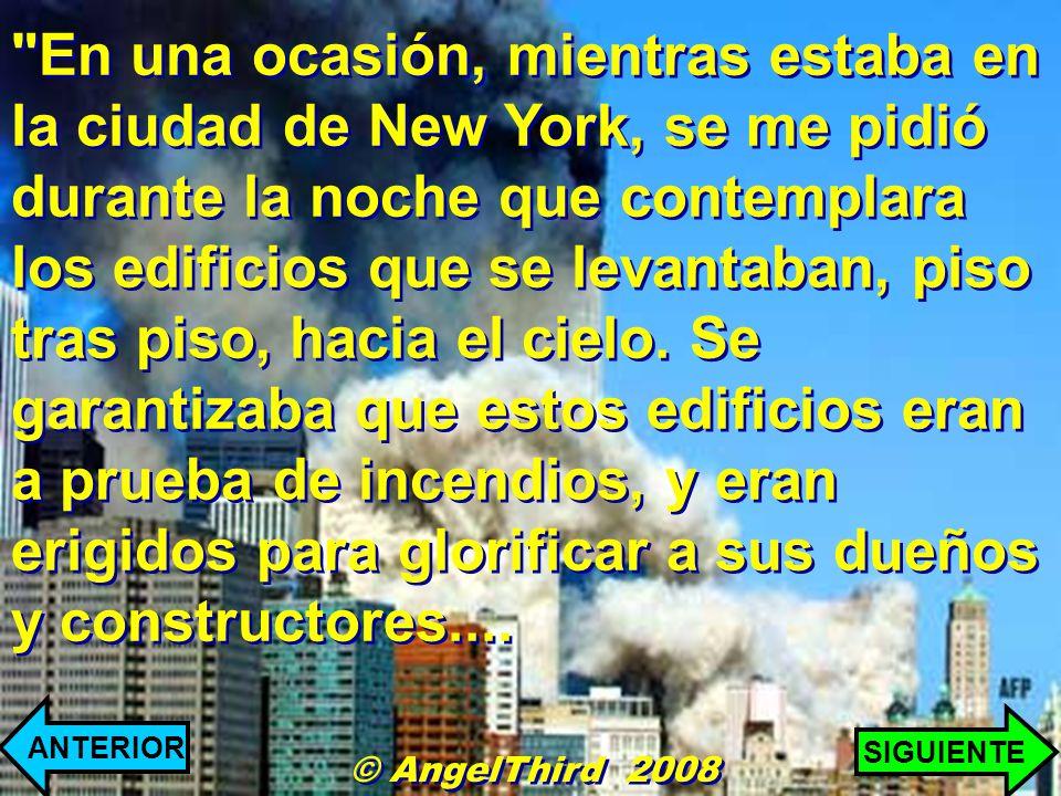 En una ocasión, mientras estaba en la ciudad de New York, se me pidió durante la noche que contemplara los edificios que se levantaban, piso tras piso, hacia el cielo.