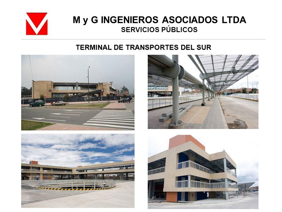 M y G INGENIEROS ASOCIADOS LTDA SERVICIOS PÚBLICOS TERMINAL DE TRANSPORTES DEL SUR
