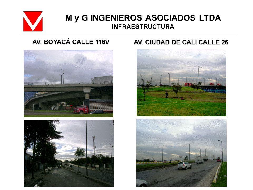 M y G INGENIEROS ASOCIADOS LTDA INFRAESTRUCTURA AV. BOYACÁ CALLE 116V AV. CIUDAD DE CALI CALLE 26