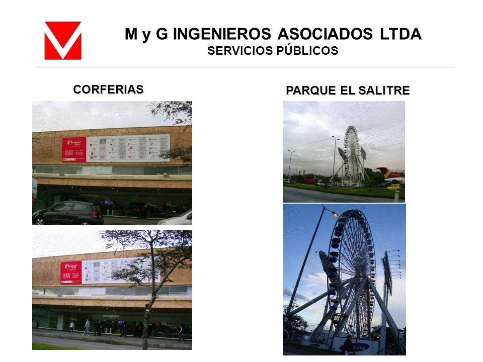 M y G INGENIEROS ASOCIADOS LTDA SERVICIOS PÚBLICOS CORFERIAS PARQUE EL SALITRE