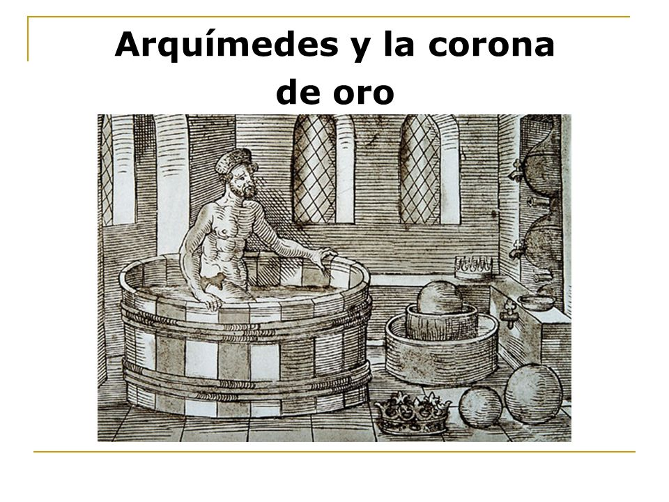 Arquímedes y la corona de oro