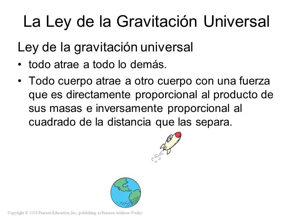 Copyright © 2008 Pearson Education, Inc., publishing as Pearson Addison-Wesley La Ley de la Gravitación Universal Ley de la gravitación universal todo