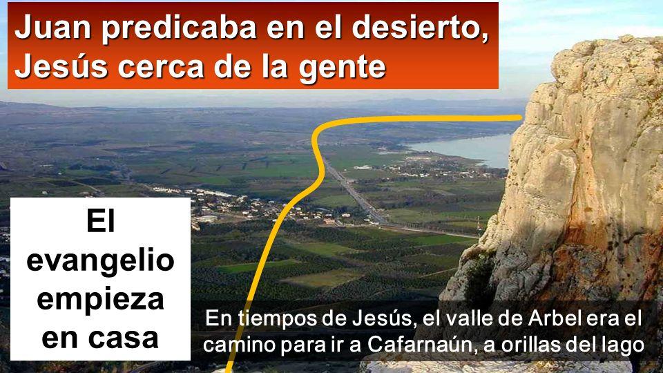 Mt 4,12-23 Al enterarse Jesús de que habían arrestado a Juan, se retiró a Galilea. Dejando Nazaret, se estableció en Cafarnaún, junto al lago, En 1er