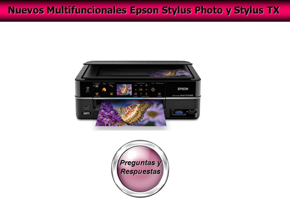 Preguntas y Respuestas Nuevos Multifuncionales Epson Stylus Photo y Stylus TX