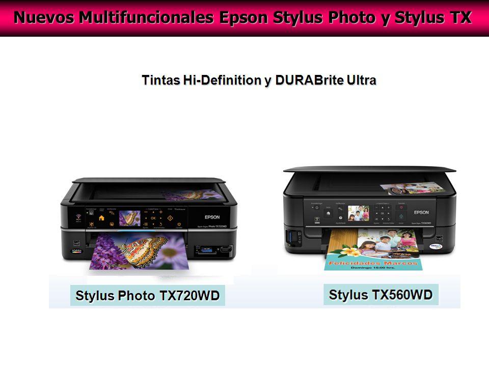 Nuevos Multifuncionales Epson Stylus Photo y Stylus TX