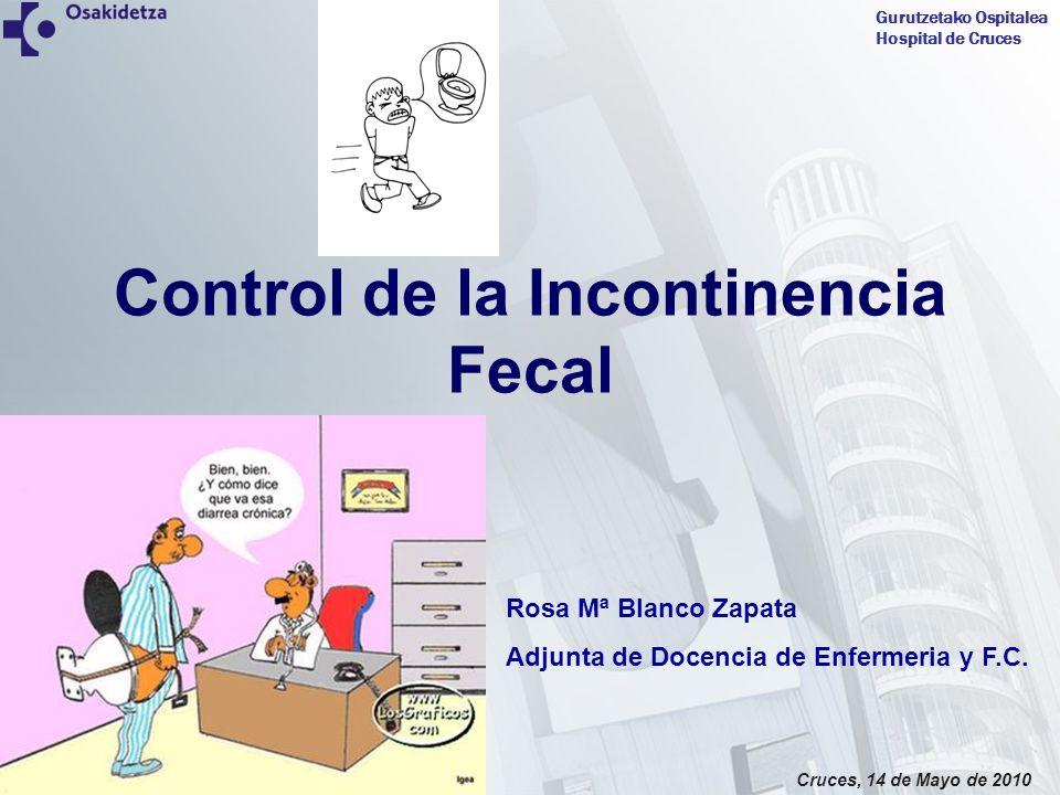 Gurutzetako Ospitalea Hospital de Cruces Cruces, 14 de Mayo de 2010 Introducción Incontinencia fecal Riesgo de deterioro de la integridad cutánea.